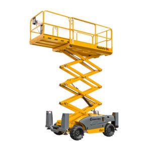 Rough terrain Scissor Lift Hire Melbourne