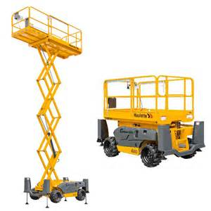 4x4 Rough Terrain Scissor Lift Hire Melbourne