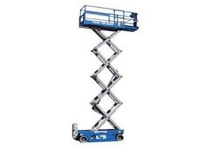 Narrow Scissor Lift Hire melbourne, BAYCITY RENTALS